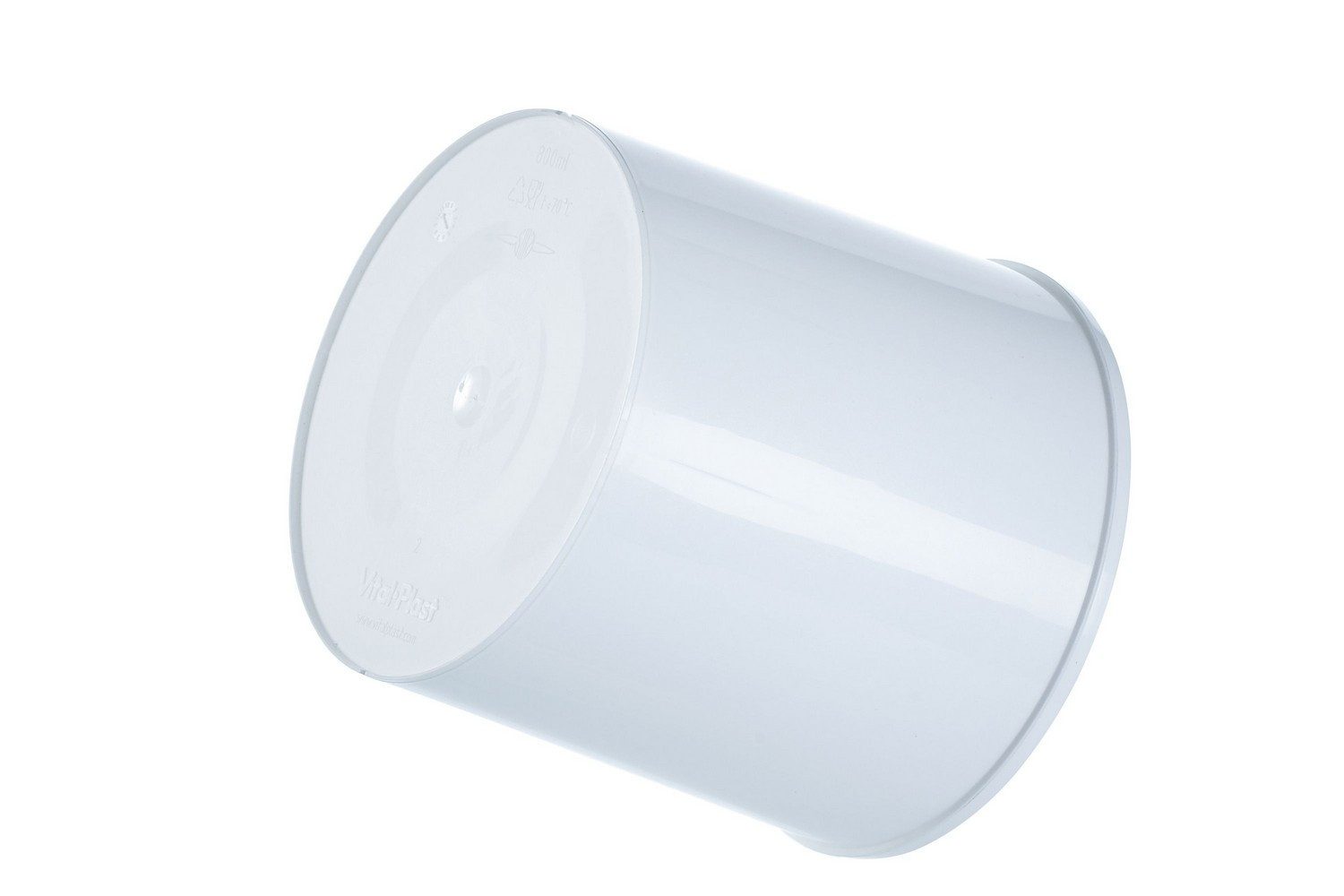 Plastic cylindrical white colored buckets for paints and varnishes 800 ml