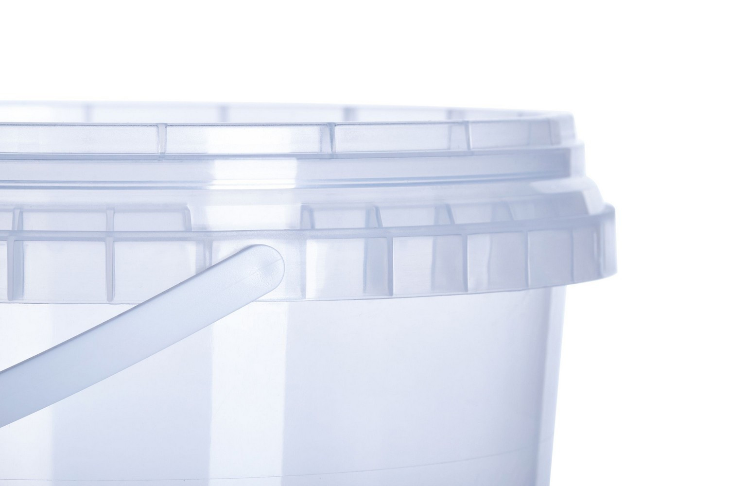 Round plastic buckets 1 l capacity food non-food with tamper evidence