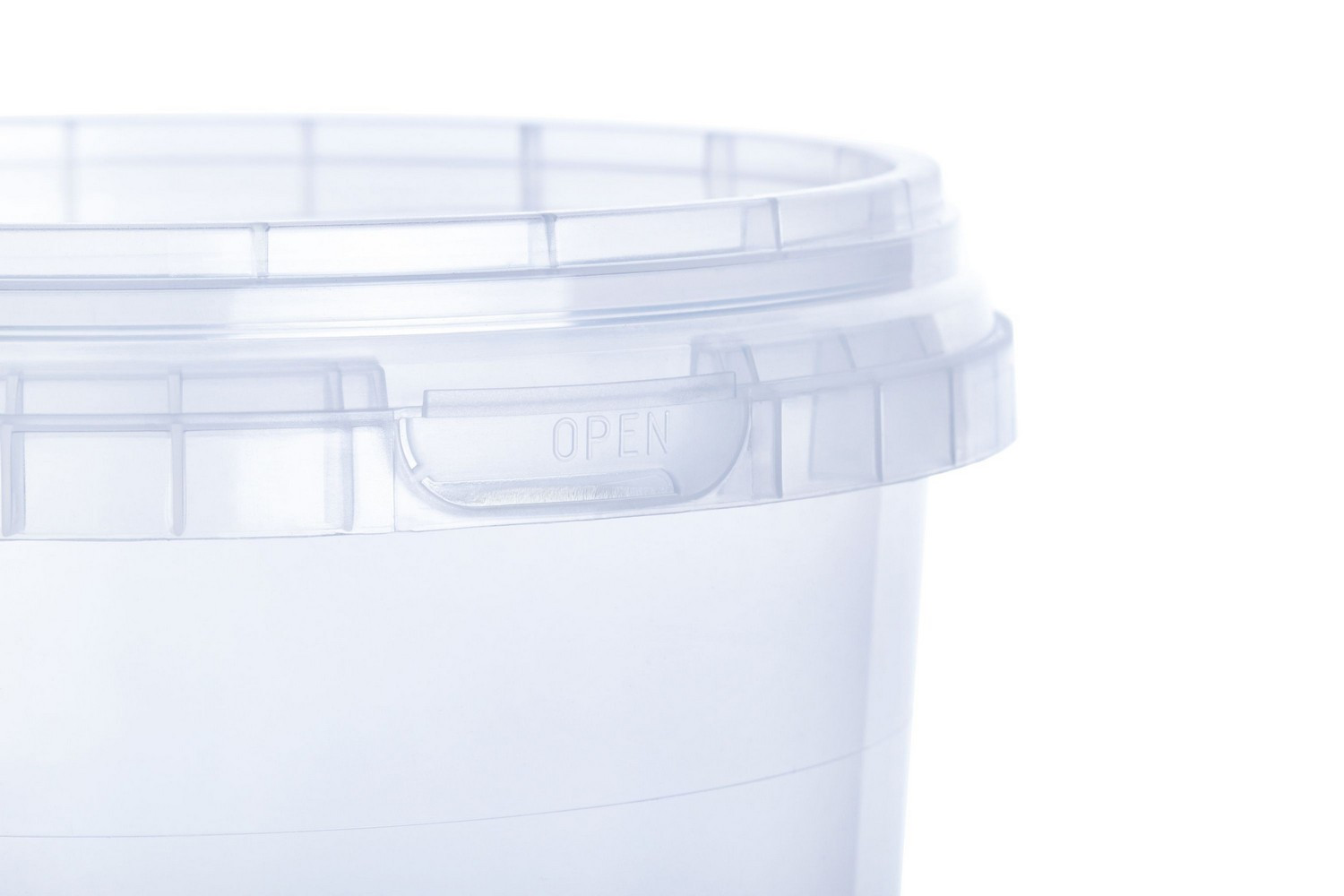 Round PP buckets transparent coloured 1 liter multi-purpose