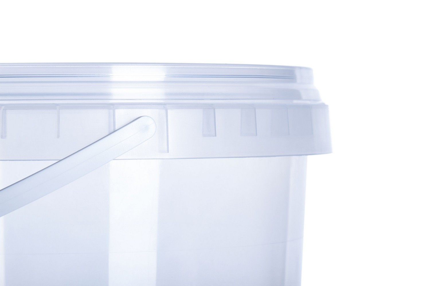 Vitalplast coloured or transparent buckets capacity 2,2 l with lids Europe produced