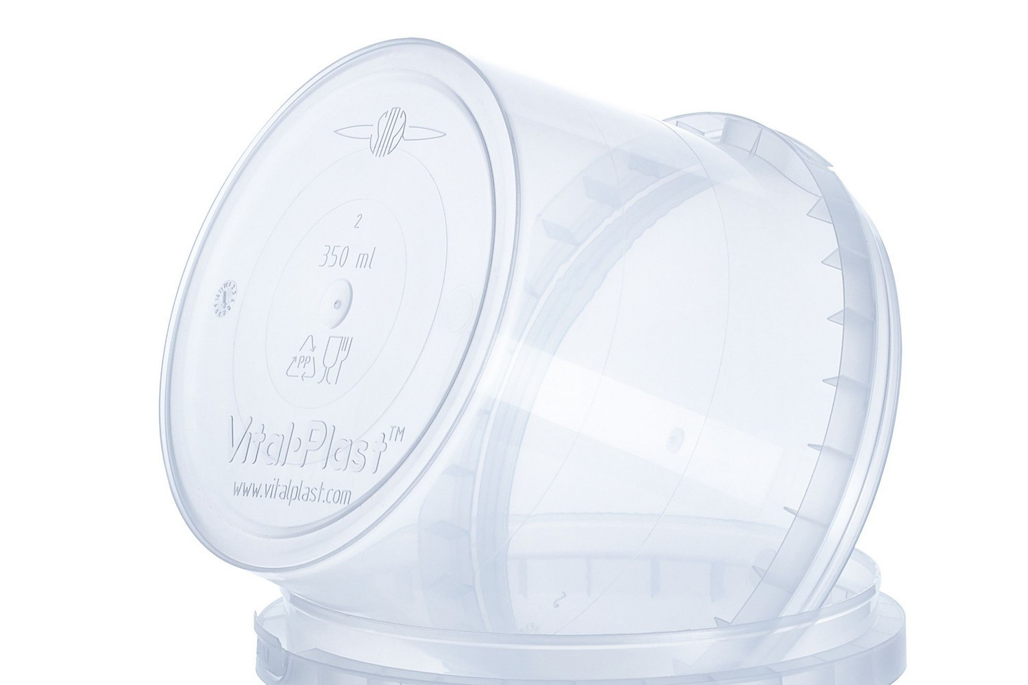 Vitalplast 350 ml food non-food containers with lid for restaraunts disposable