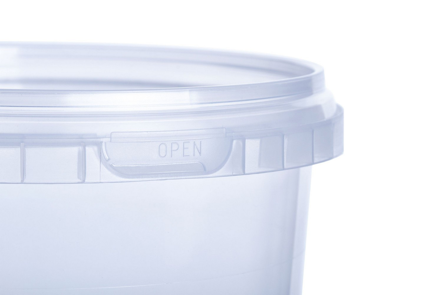 Food non-food 600 ml round PP buckets high-quality Europe manufactured