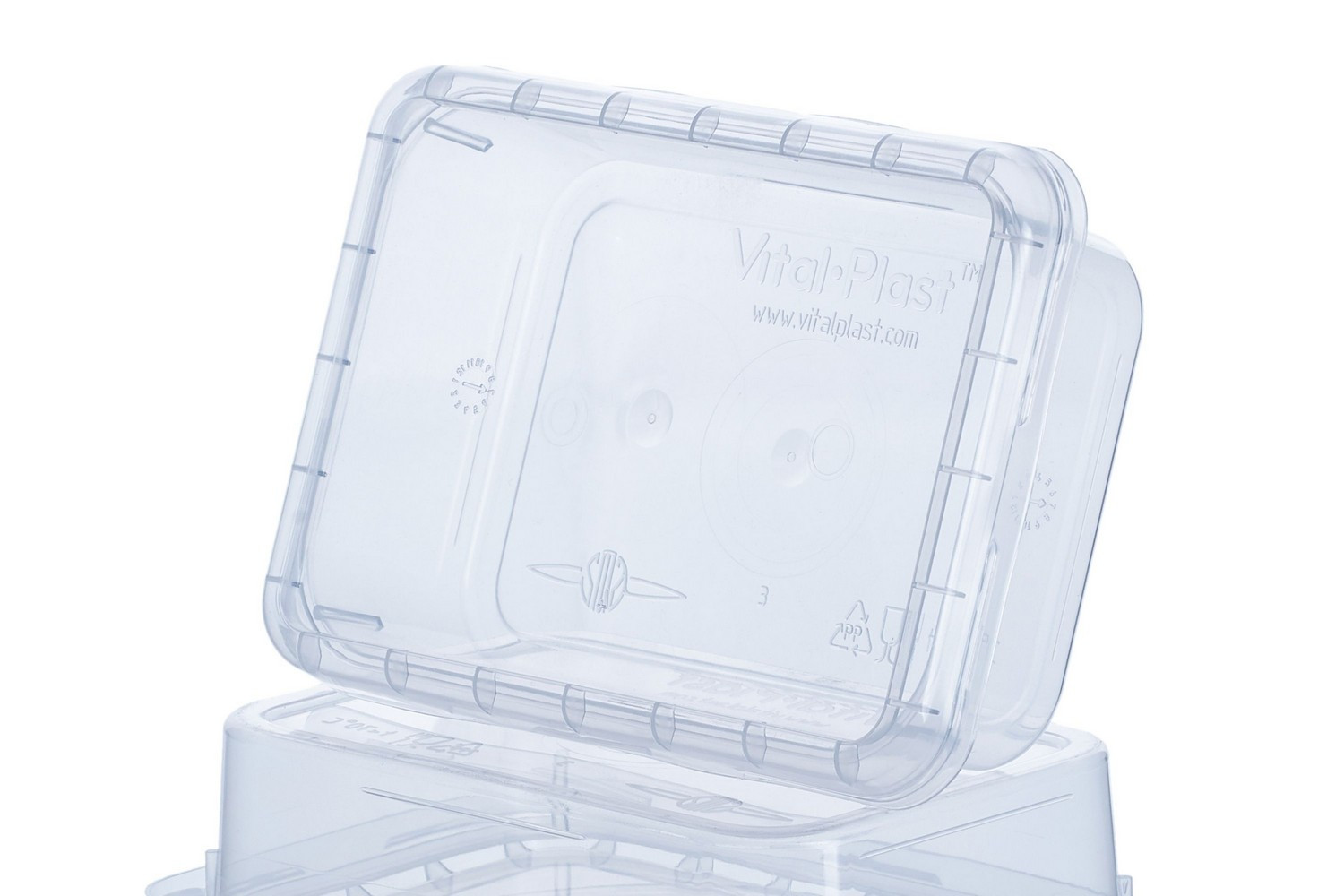 Rectangular high quality food non-food 180 ml sealable containers with lid