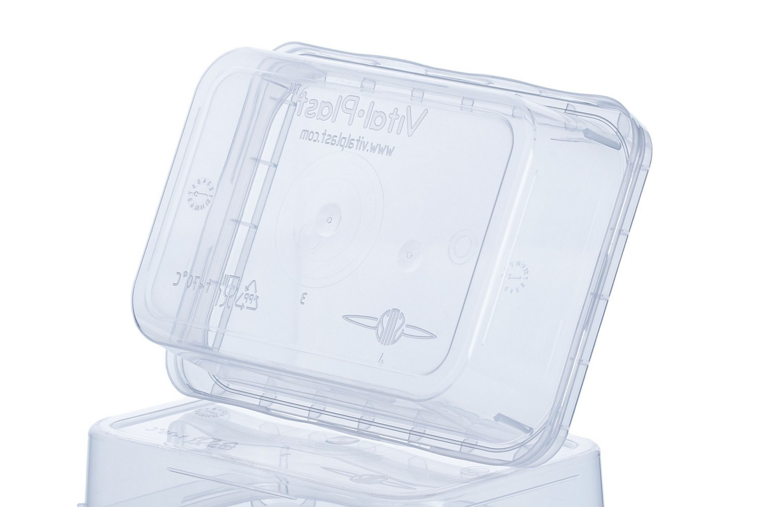 Rectangular sealable clear coloured containers 180 ml for different purposes Europe