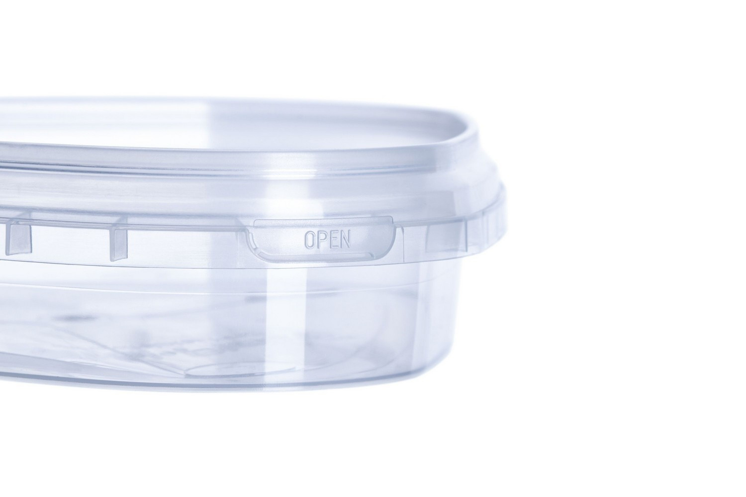 Plastic food containers triangle for fish with lids tamper-evident 200 ml Ukraine
